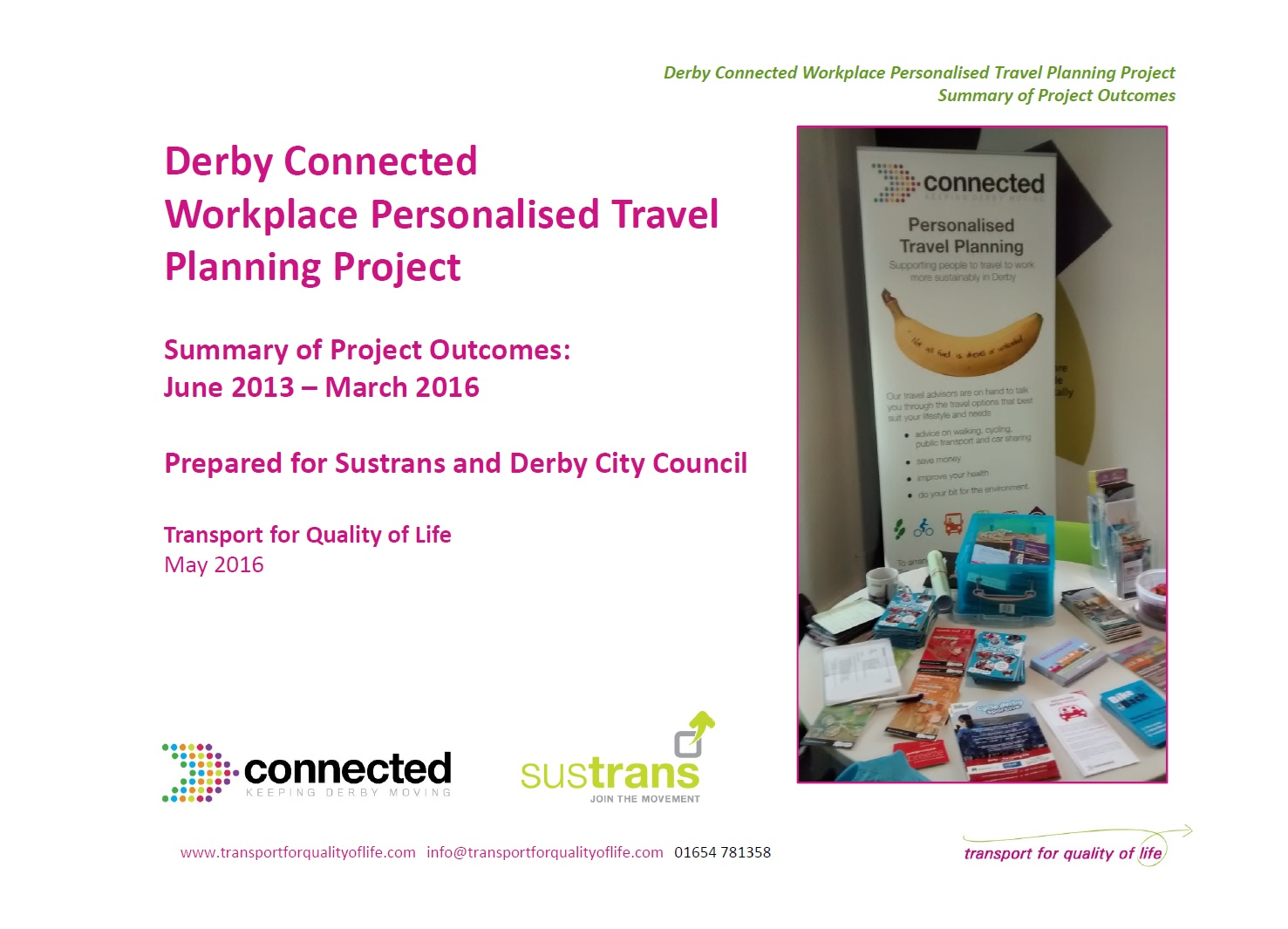 Derby Connected summary of outcomes cover image
