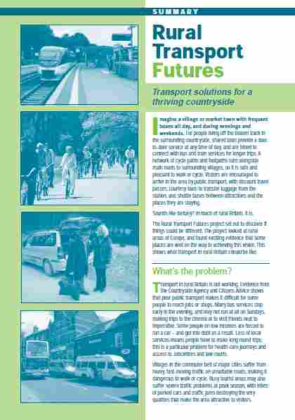 Rural Transport Futures cover image